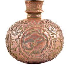 Vintage Copper Embossed Design Hookah Base