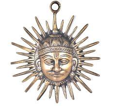 Brass  Sun Face Wall Hanging