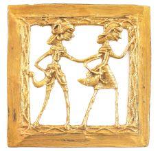 Brass Dokra Handmade Tribal Figurines Wall Hanging
