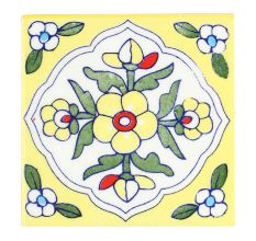 Yellow Tiny Flower Ceramic Tiles