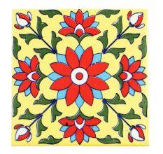 Red Flower Ceramic Tiles