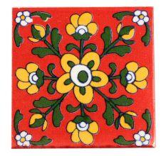 Yellow Tiny Flower Ceramic Tiles