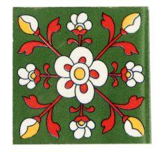 White Tiny Flower Ceramic Tiles