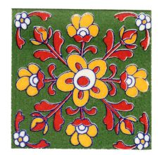 Red Leaf Mustard Tiny Flower Ceramic Tiles