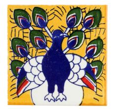 Navy Blue Peacock Ceramic Tiles