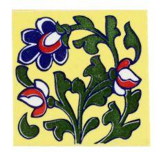 Forest Green Leaf Ceramic Floral Tiles