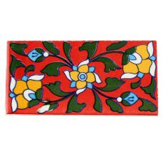 Red Base Yellow Ceramic Tiles