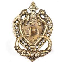 Magnificient Peacock Carved Brass Door Knocker