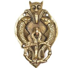 Bat Face Door Knocker With Fish And Hanging Ring