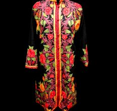 Designer Collection Jackets Sami Pashmina Fabric In Black & Red