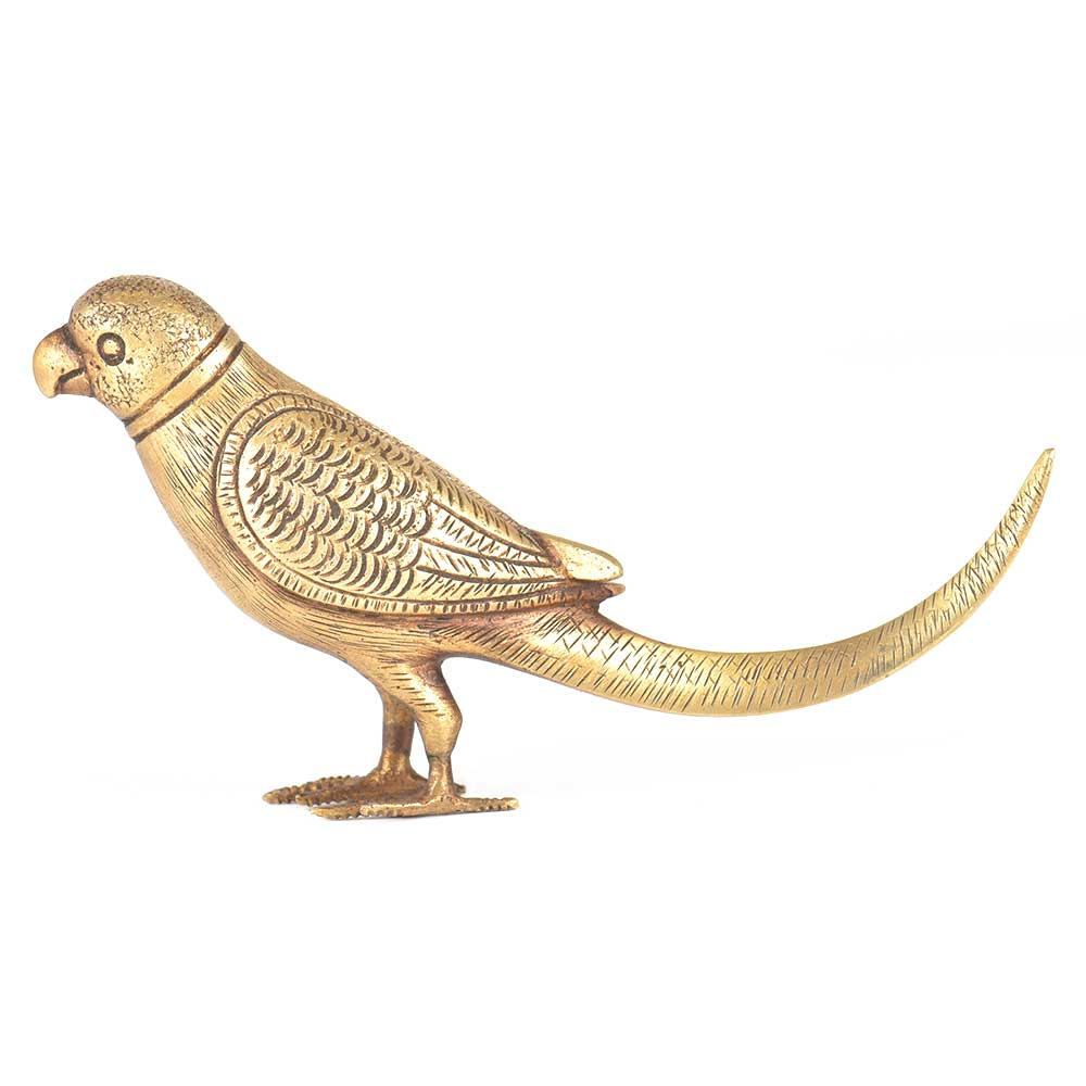 Handcrafted Brass Parrot Figurine