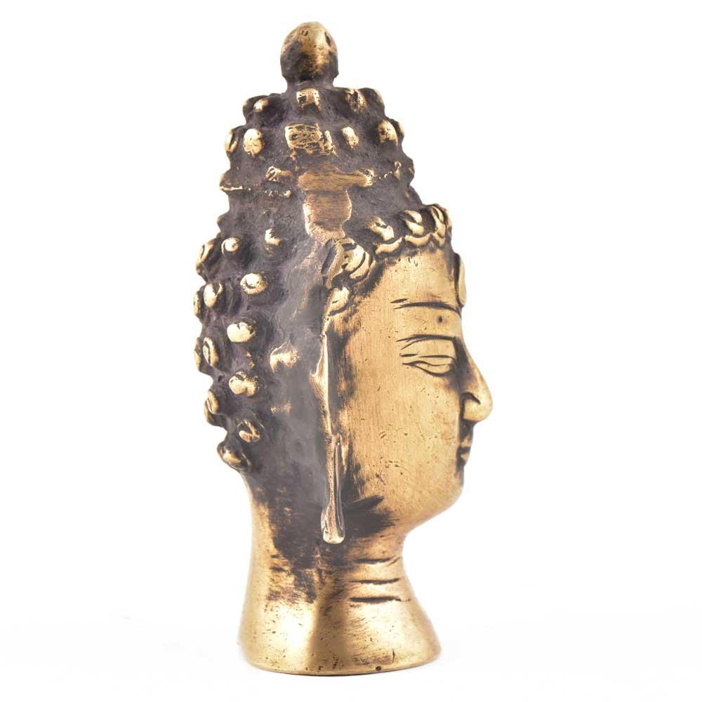 Lord Buddha Head Statue In Brass