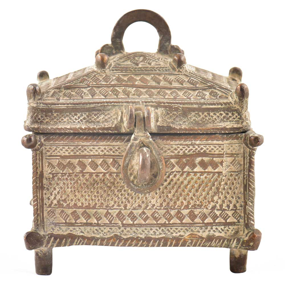 Brass Vintage Handcrafted Storage Box With Latch