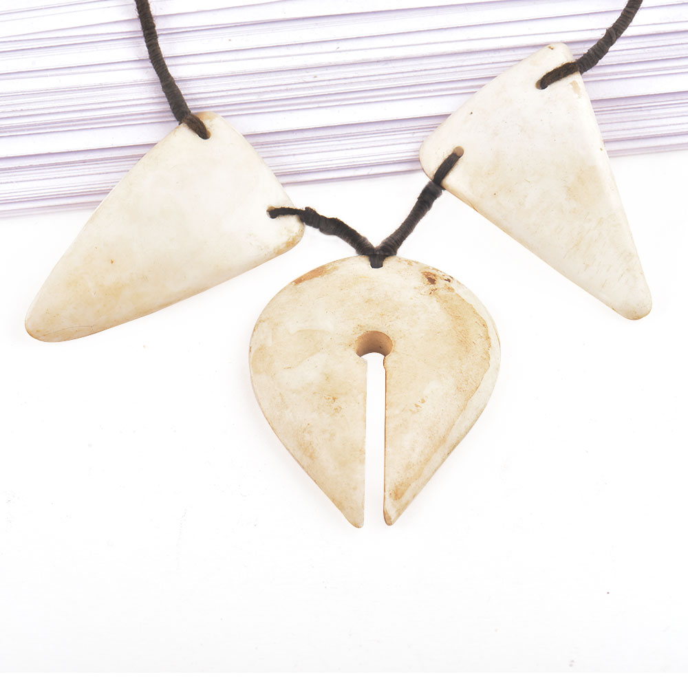 Contemporary Design Sea Shell Necklace With Black Cord