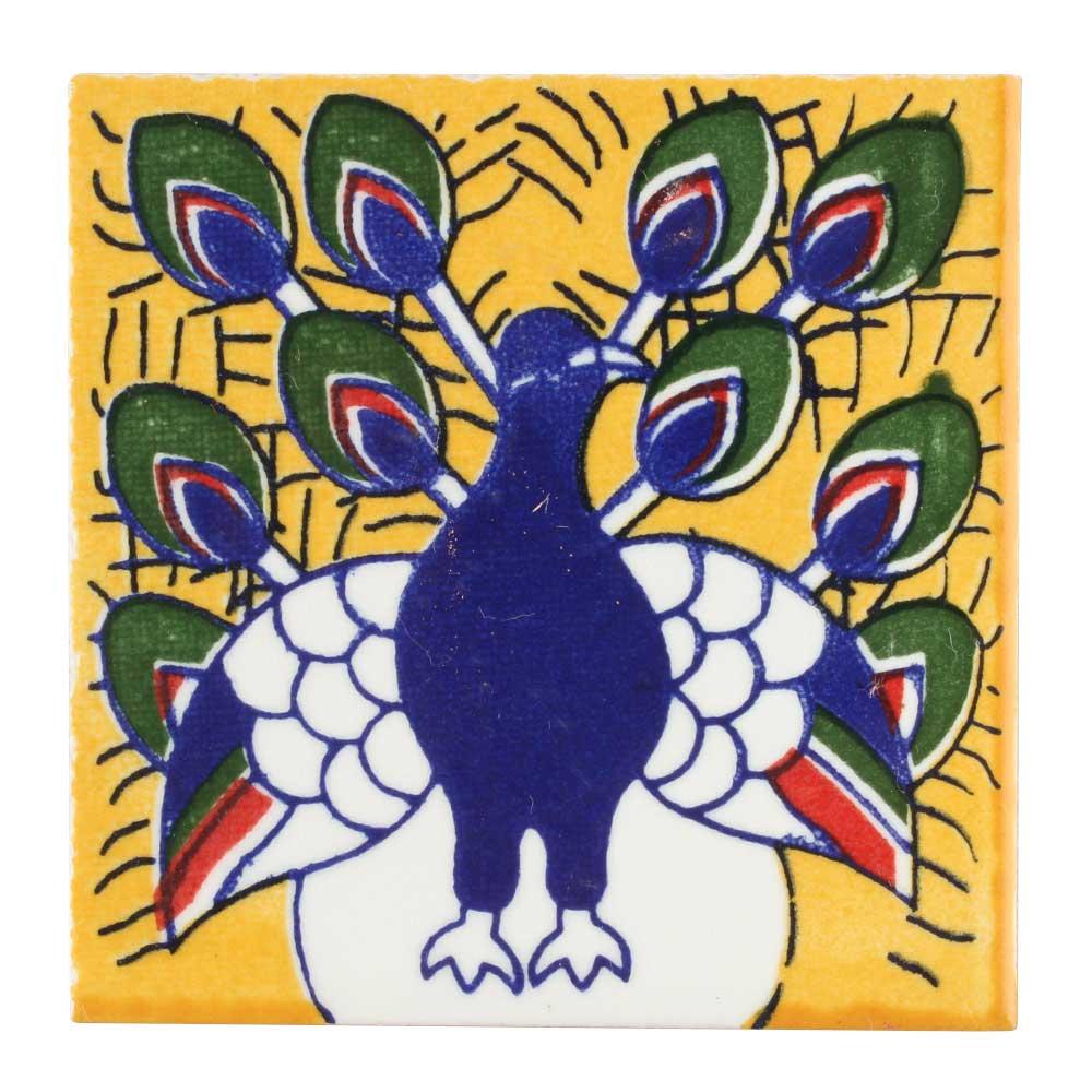 Navy Blue Peacock Ceramic Tiles
