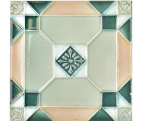 Gray Flower Handmade Ceramic Tile Art