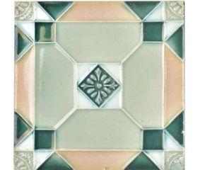 Gray Flower Handmade Ceramic Tile Art