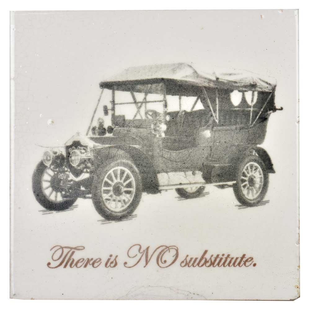 Hand Drawn Vintage Car sketch Ceramic Tile