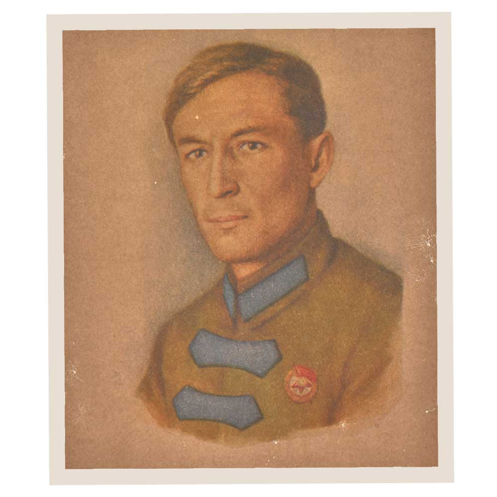 Print Of An Old Handsome Army Officer