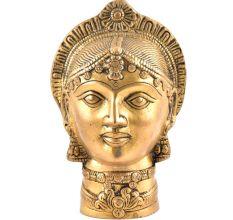 Brass Devi Mukhota Lady Head Statue