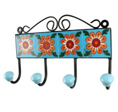 Mustard Sunflower Ceramic Tiles Hook