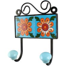 Mustard Sunflower Ceramic Tile Hook