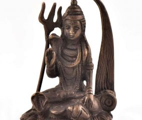 Brass Seated Lord Shiva in Meditation Statue