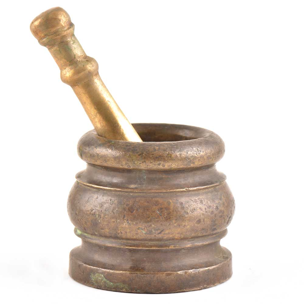Vintage Brass or Bronze Mortar and Pestle