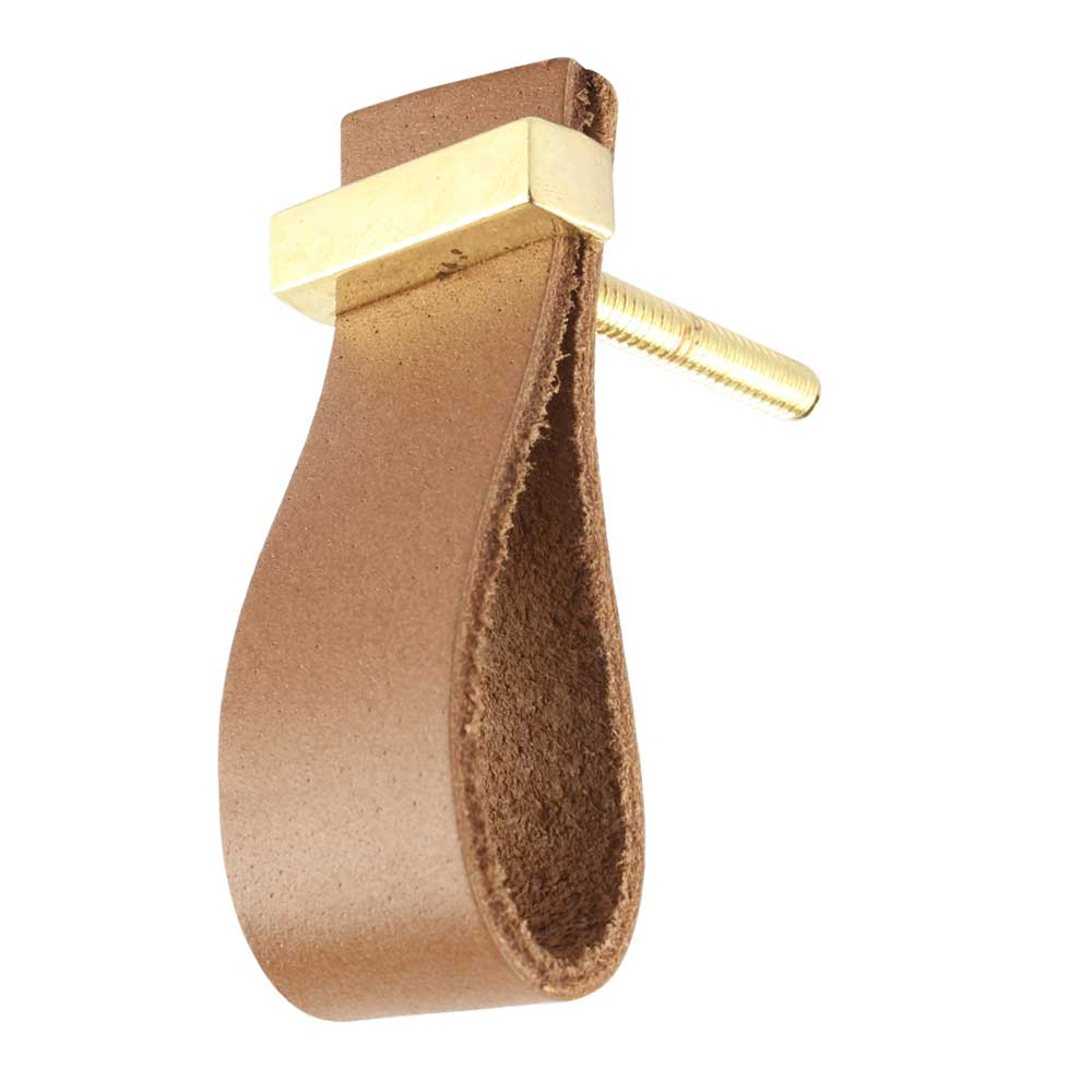 Camel Color Faux Leather Pull Knob Online