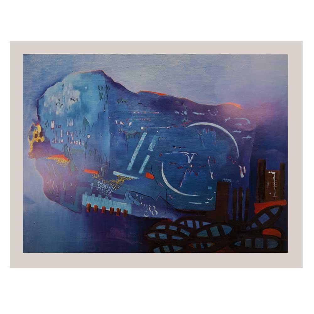 Print Of Zubaida Agha Work An Island