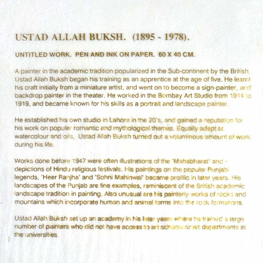 Print of Ustad Allah Baksh Untitled Work Portrait