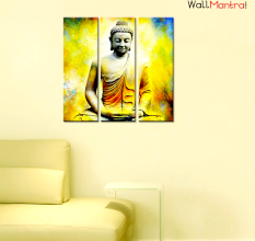 Buddha Wall Painting  Premium Quality Canvas Wall Hanging