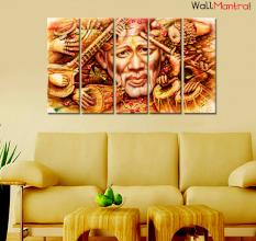 Sai Baba Painting Premium Quality Canvas Wall Hanging