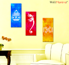 Ganesha  Premium Quality Canvas Wall Hanging
