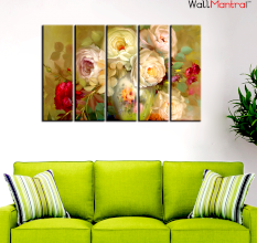 Beautiful Rose Flowers Canvas Painting Wall Hanging