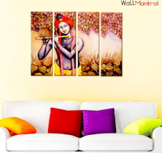 Krishna  Premium Quality Canvas Wall Hanging