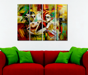 Radha Krishna  Premium Quality Canvas Wall Hanging