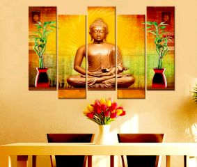 Buddha Idol canvas Wall Painting Wall Hanging