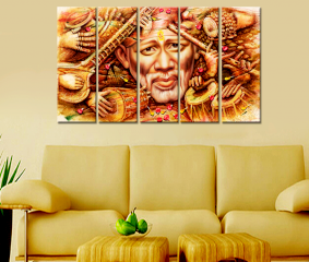 Sai Baba Painting Premium Quality Canvas Wall Hanging