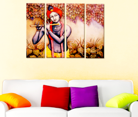 Krishna  Premium Quality Canvas Wall Hanging