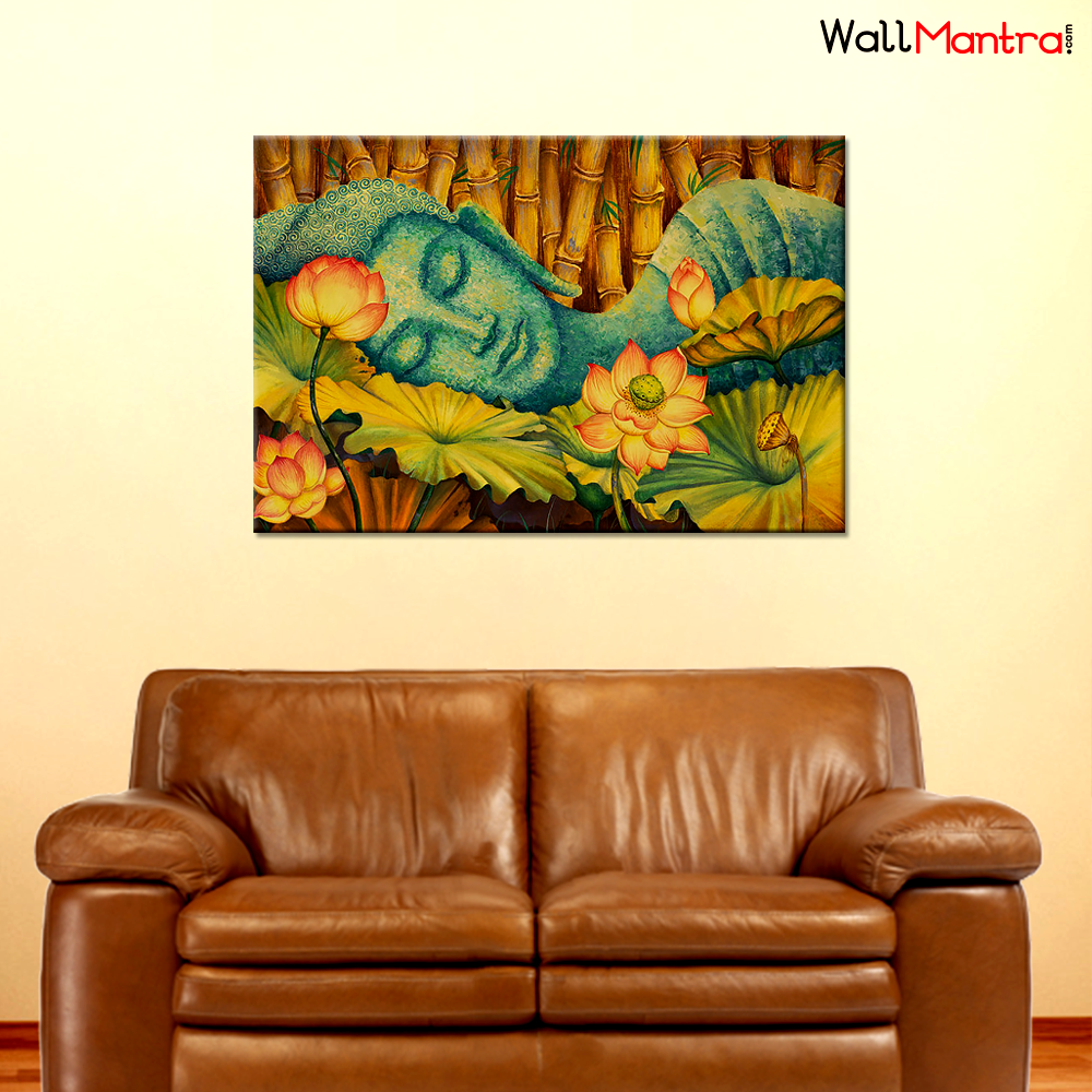 Buddha Wall Painting Premium Quality Canvas  Wall Hanging