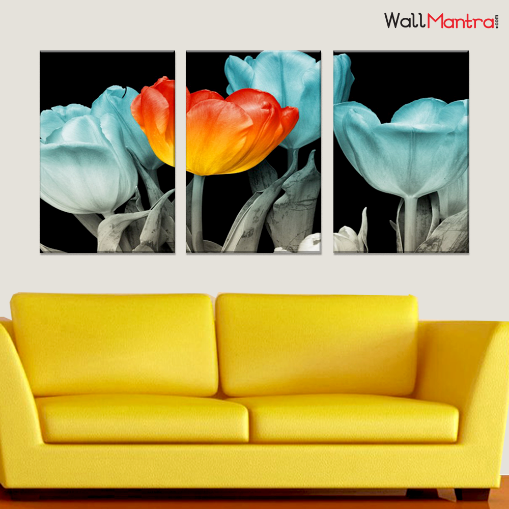 Tulip Flower Wall Painting Premium Quality Canvas Wall Hanging