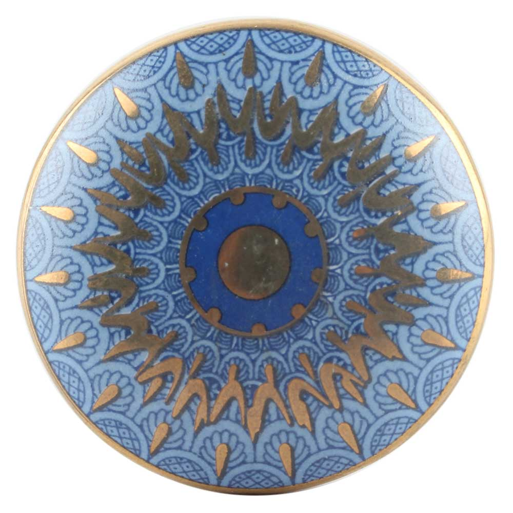 Blue Peacock Ceramic Wardrobe Knob Online