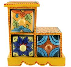 Spice Box-987 Masala Rack Container Gift Items