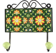 Sunflower Ceramic Tile Wall Hook
