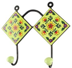Tiny Flower Ceramic Tile Wall Hook