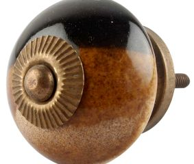 Brown And Black Ceramic Cabinet Knob Online
