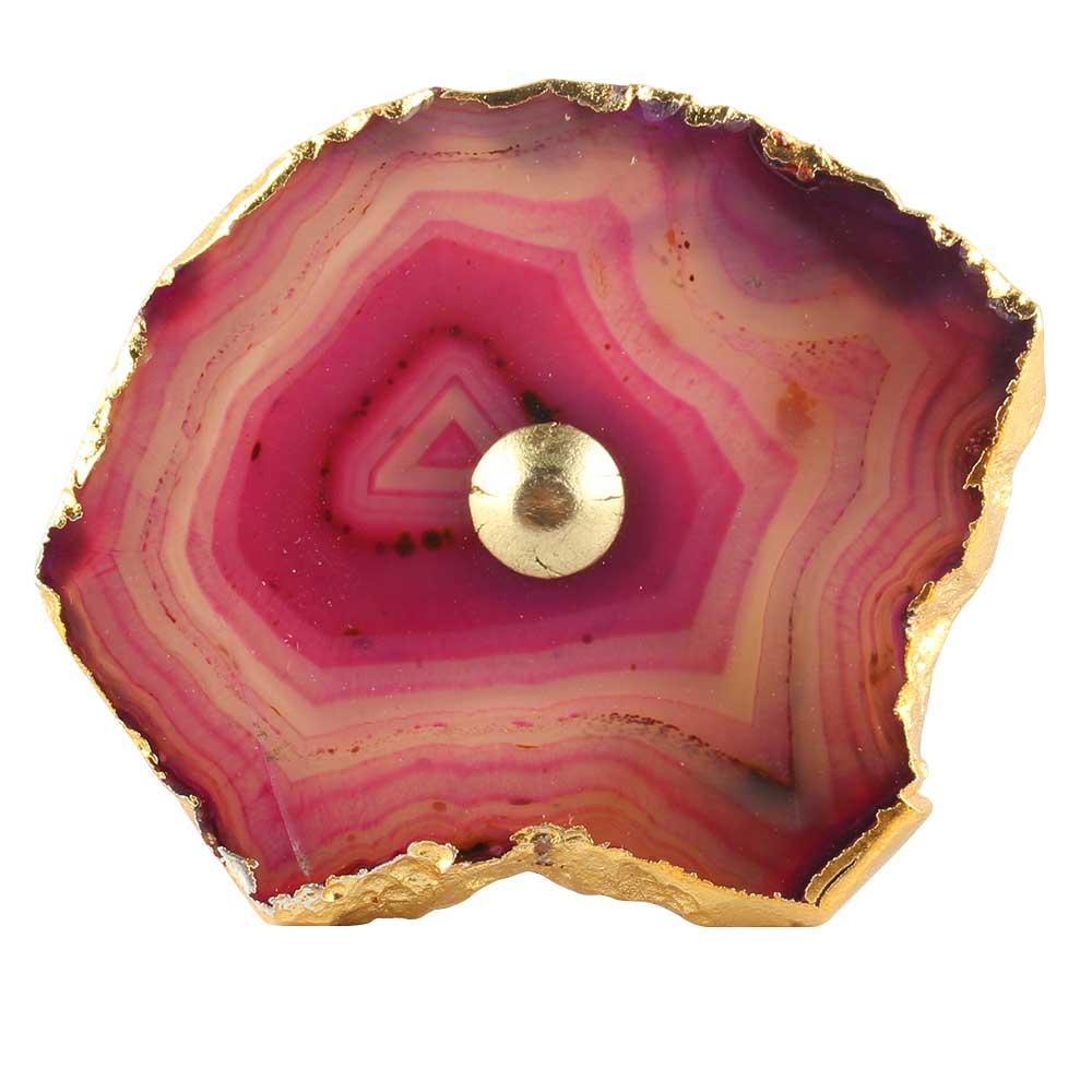 Pink Agate Stone Drawer Knob Online