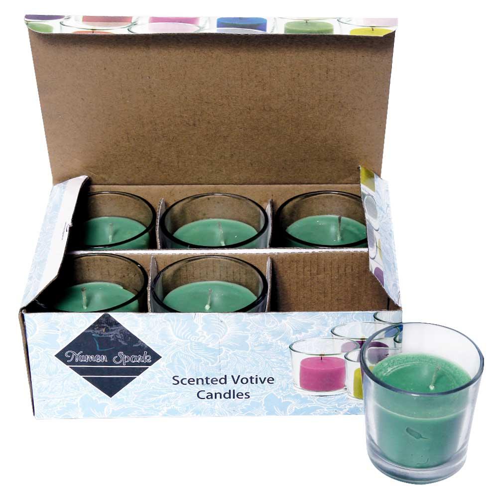Set Of 6 Tea Tree Votive Candle