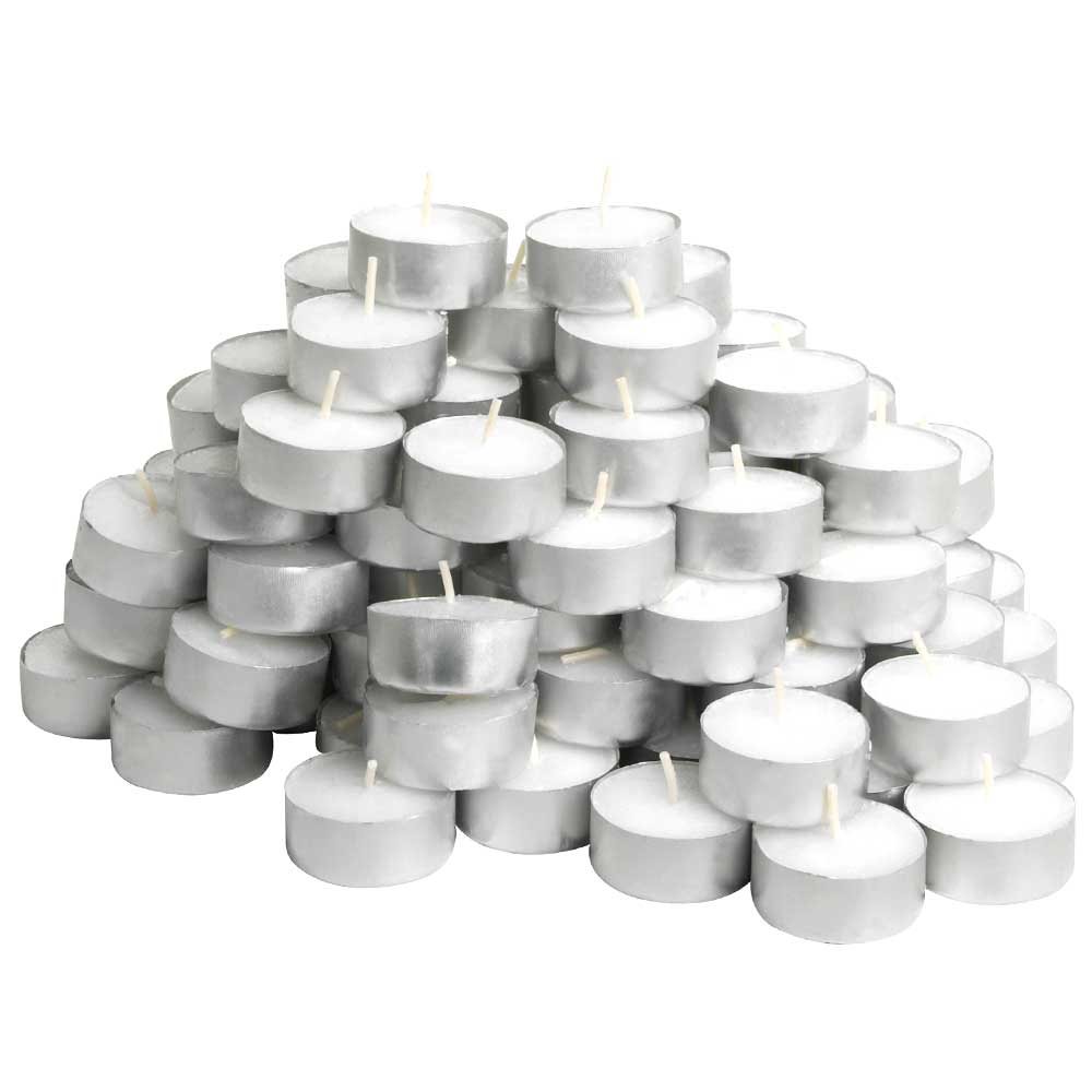 100 White Tea-Light Candle